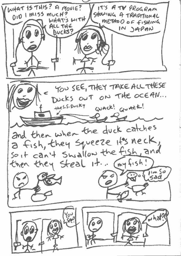 sketchbook – Duckhunting story