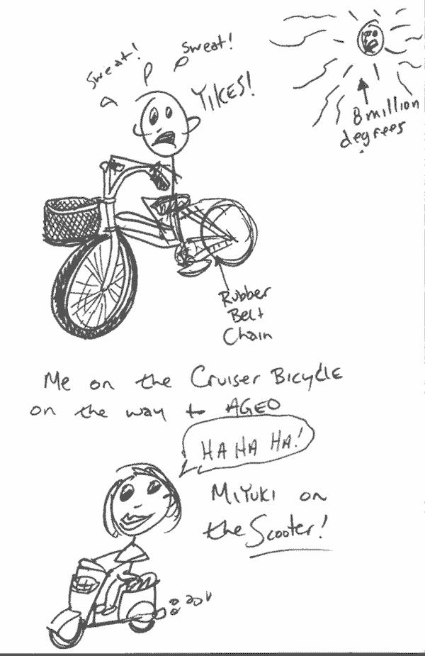 sketchbook – scooter vs. bike