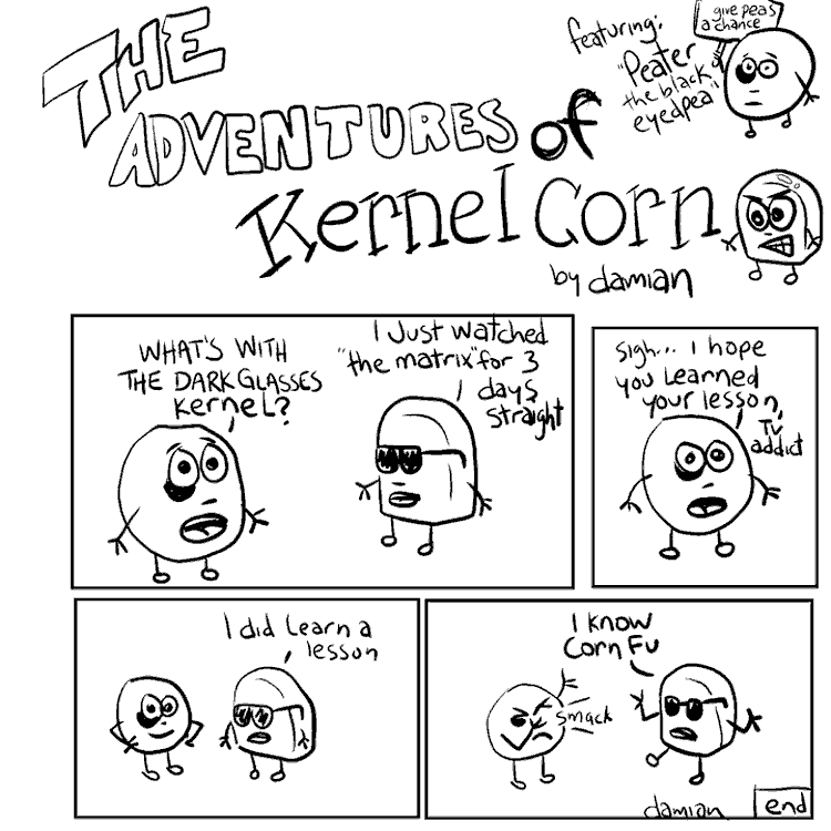 Kernel Corn – Martial arts…