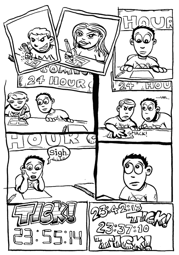 a day in the life… (24 hr comic) p.2