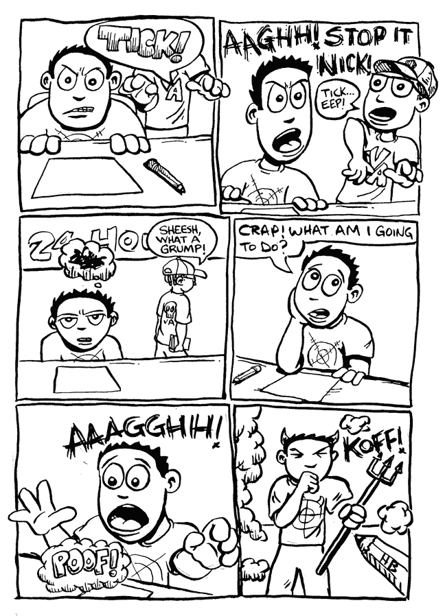 a day in the life… (24 hr comic) p.3
