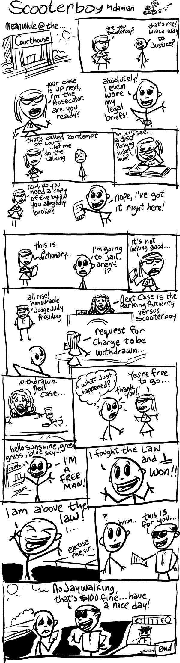 Scooterboy versus justice!