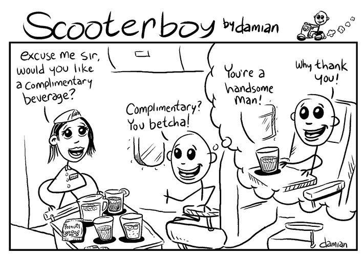 Scooterboy – in flight beverages