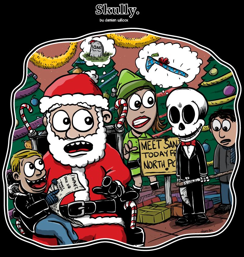 Skully – Christmas at the maul…