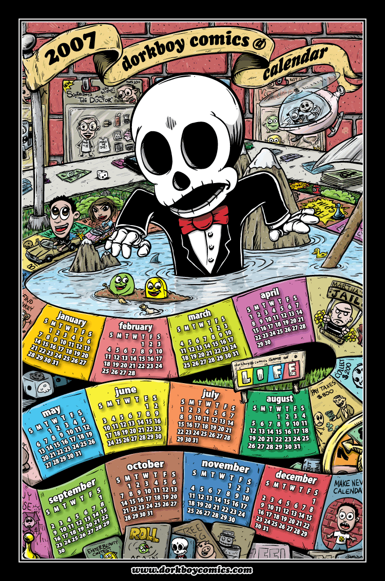 dorkboy comics 2007 calendar!!