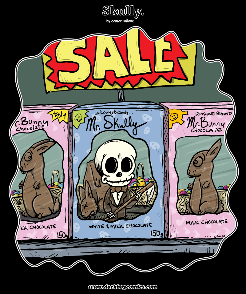 Skully – Happy Easter!