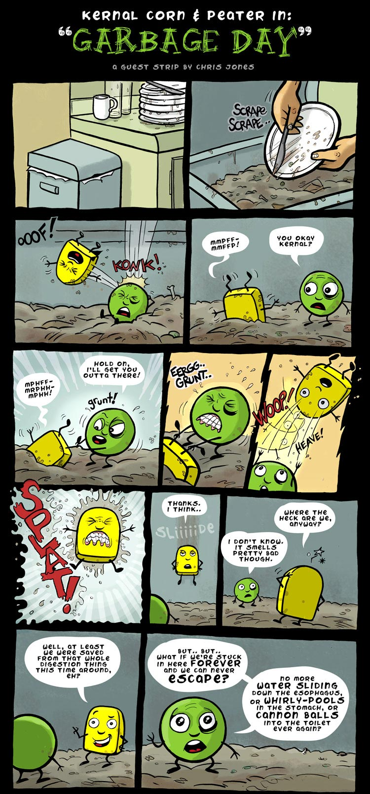 Chris Jones Guest Kernel Corn Comic! 1 of 2