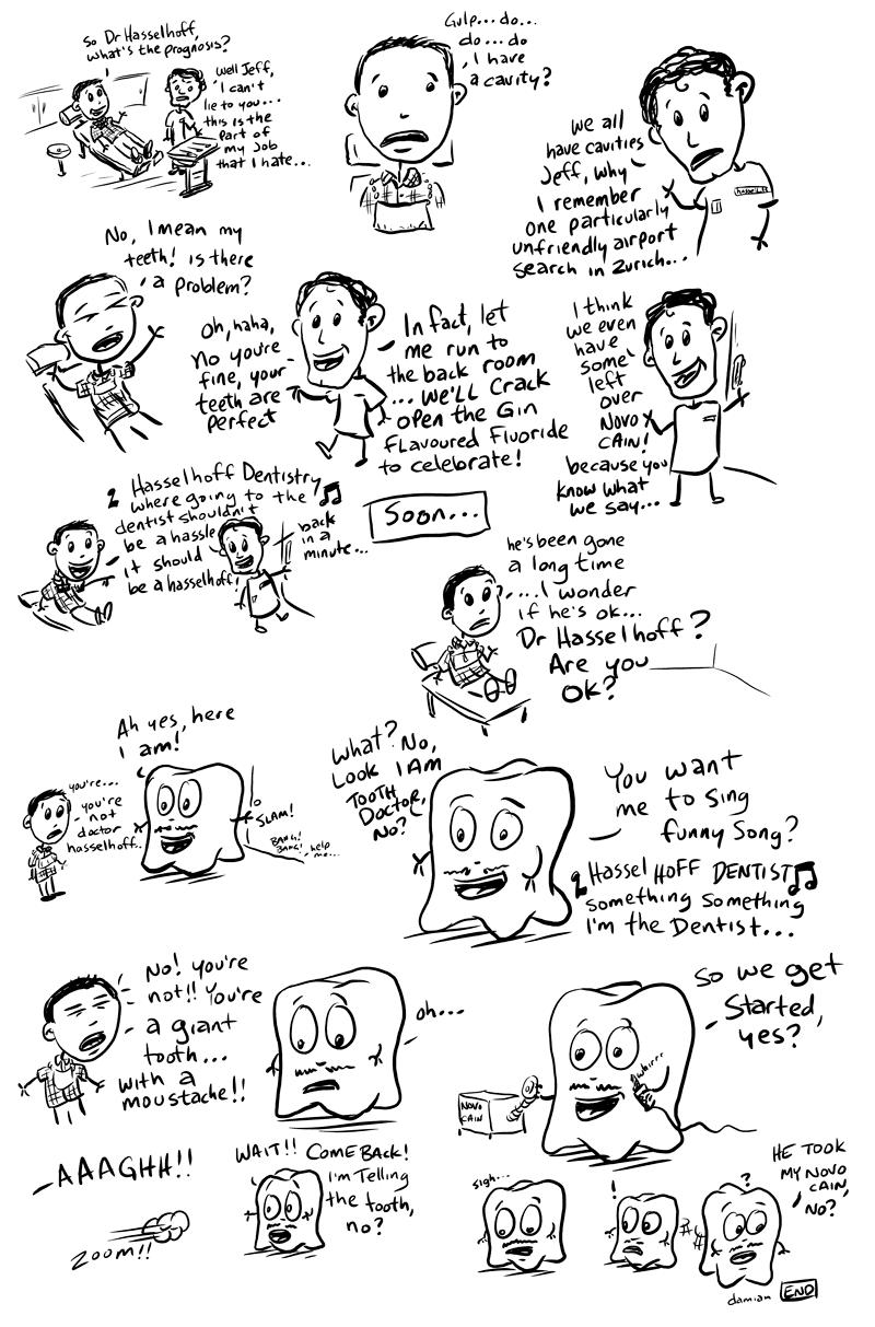 Sketchbook – Tooth adventures #2