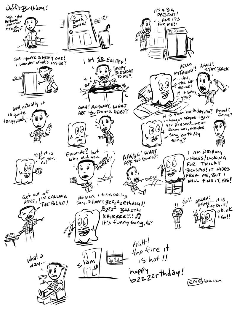 Sketchbook – Tooth adventures #4