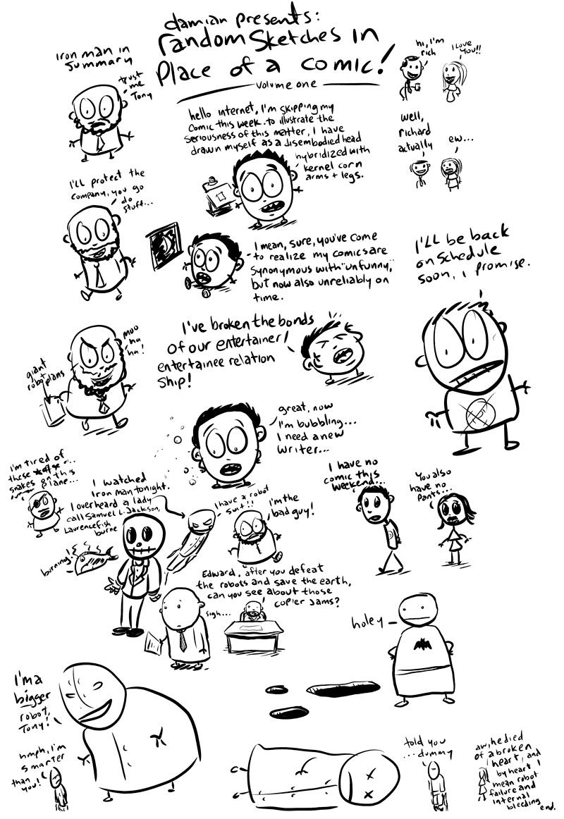 sketchbook comics -random sketches