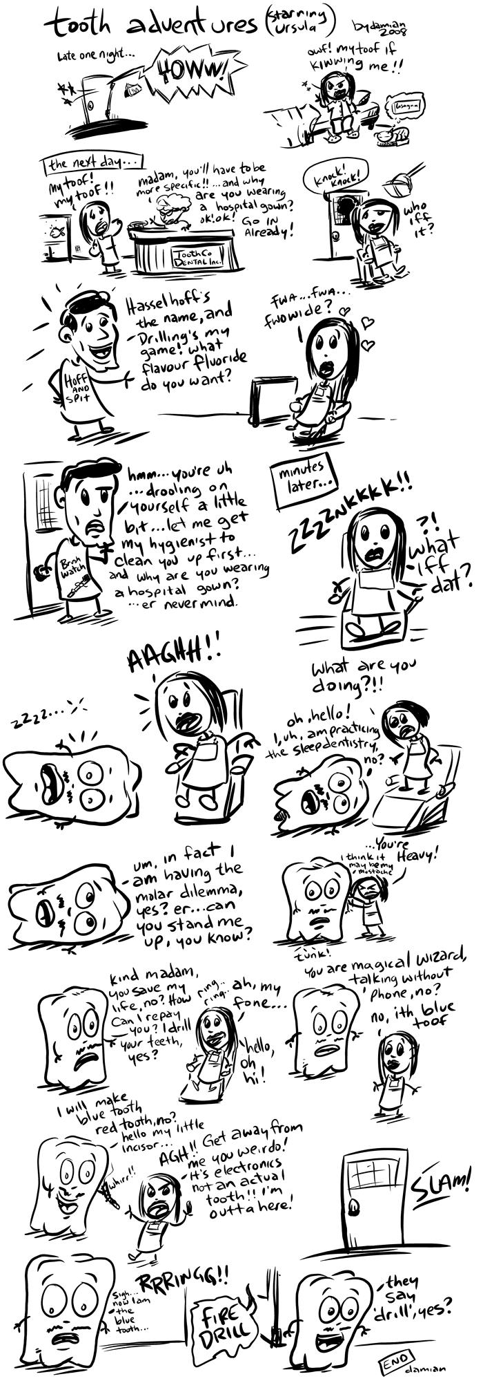 Sketchbook – Tooth adventures #5