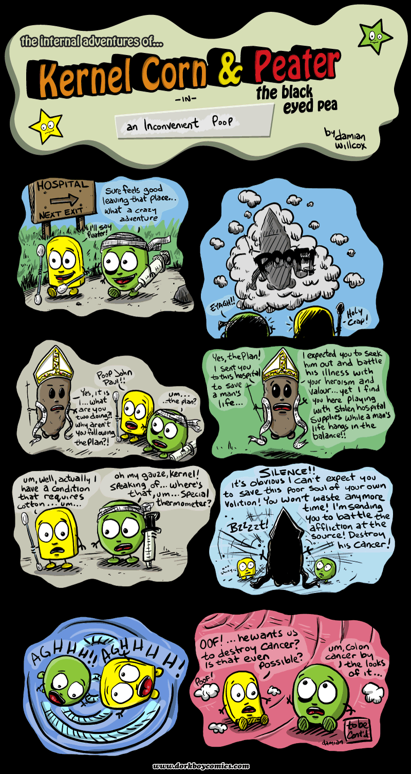 Kernel Corn – an inconvenient poop