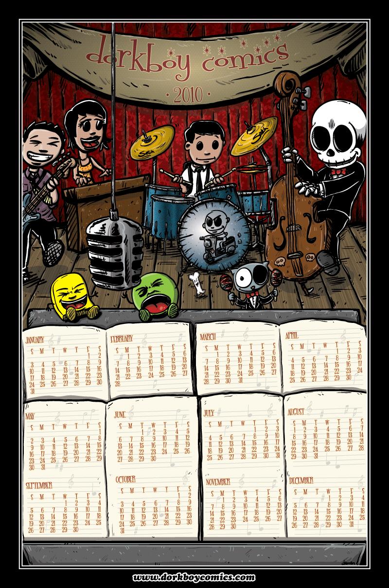 dorkboy comics 2010 calendar!!
