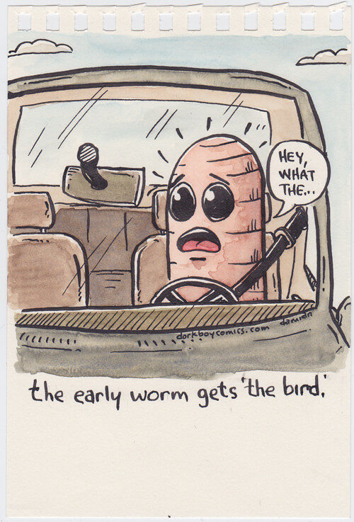 Worm at the wheel
