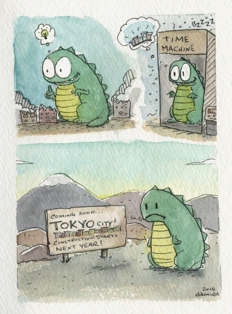 Godzilla vs Time Travel