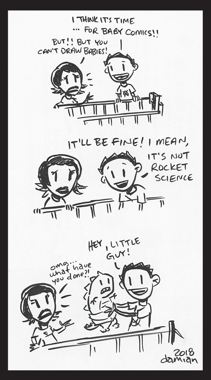 """Bad Parent – the birth of baby comics"""